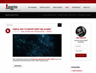abapmentor.expertise-team.com screenshot