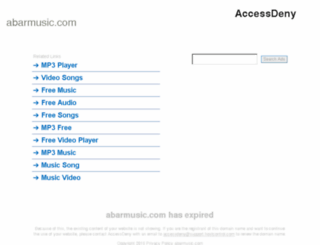abarmusic.com screenshot