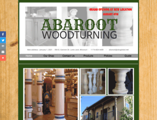 abarootwoodturning.com screenshot
