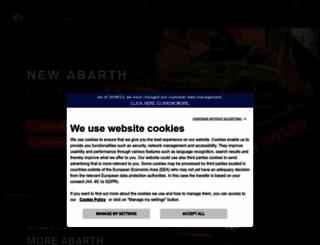 abarthcars.co.uk screenshot