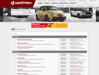 abarthforum.co.uk screenshot