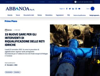 abbanoa.it screenshot