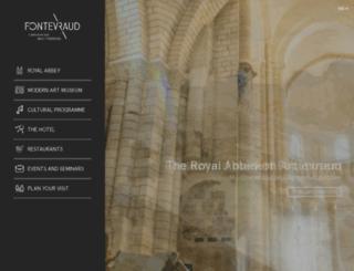 abbayedefontevraud.com screenshot
