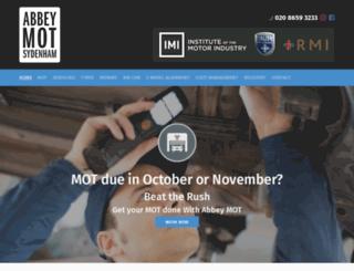 abbey-mot.co.uk screenshot