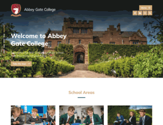 abbeygatecollege.co.uk screenshot