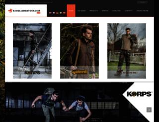 abbigliamentocaccia.com screenshot