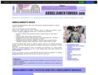 abbigliamentomoda.com screenshot