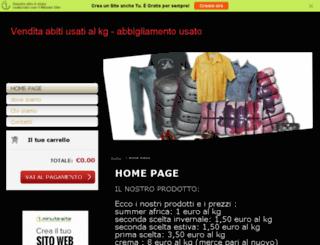 abbigliamentousato.oneminutesite.it screenshot