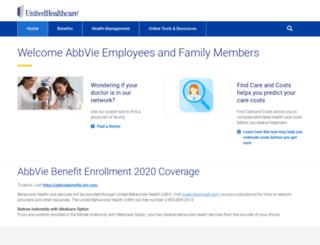 abbvie.welcometouhc.com screenshot