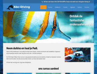 abc-diving.nl screenshot