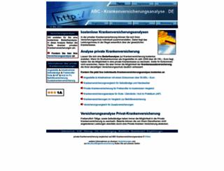 abc-krankenversicherungsanalyse.de screenshot