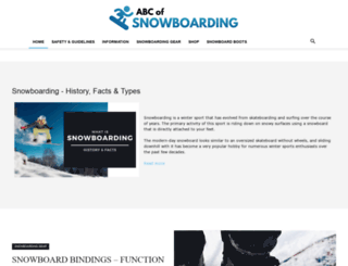abc-of-snowboarding.com screenshot