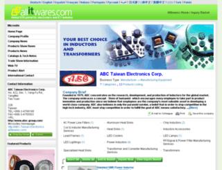 abc-taiwan-electronics.allitwares.com screenshot