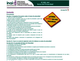 abcavisosprivacidad.ifai.org.mx screenshot