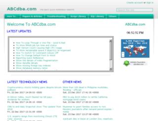 abcdba.com screenshot