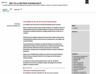 abcdelasecurite.free.fr screenshot