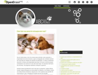 abcdosfelinos.openbrasil.org screenshot