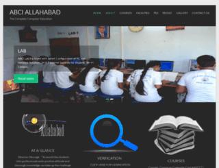 abciallahabad.com screenshot