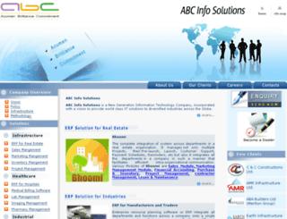 abcinfosolutions.com screenshot