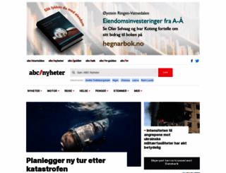 abcnyheter.no screenshot