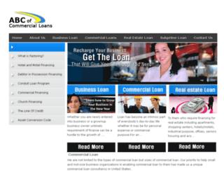 abcofcommercialloans.com screenshot