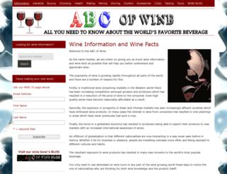 abcofwine.com screenshot
