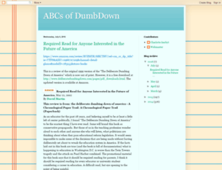 abcsofdumbdown.blogspot.com screenshot