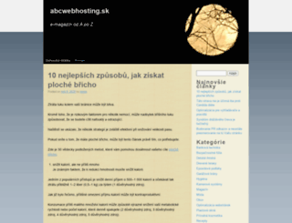 abcwebhosting.sk screenshot