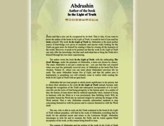 abdrushin.name screenshot