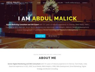 abdulmalick.com screenshot