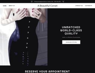 abeautifulcorset.com screenshot