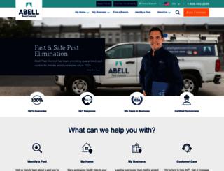 abellpestcontrol.com screenshot