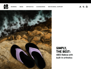 abeofootwear.com screenshot