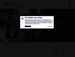 aber.ac.uk screenshot