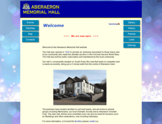 aberaeronmemorialhall.org.uk screenshot