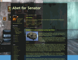 abetforsenator.blogspot.com screenshot