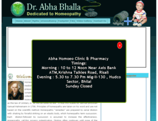 abhahomeoclinic.com screenshot