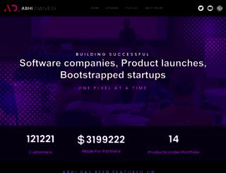 abhidwivedi.com screenshot