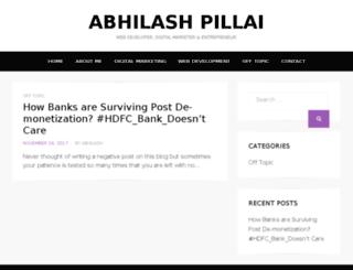 abhilashpillai.com screenshot