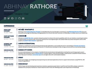 abhinayrathore.com screenshot