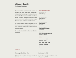 abhinayreddy.com screenshot