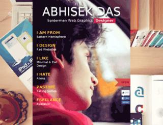 abhisekd.com screenshot