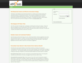 abhyaas.testfunda.com screenshot