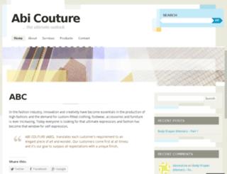 abicouture.wordpress.com screenshot