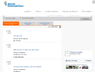 abidi-immobilier.com screenshot