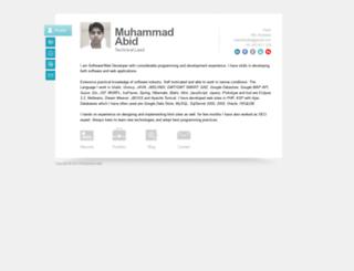 abidshafiq.com screenshot