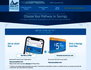 abilify.com screenshot