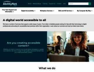 abilitynet.org.uk screenshot