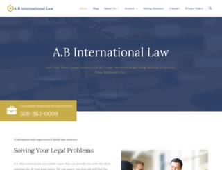 abinternationallaw.com screenshot