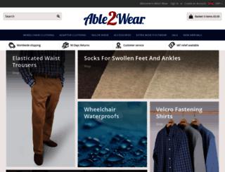 able2wear.co.uk screenshot
